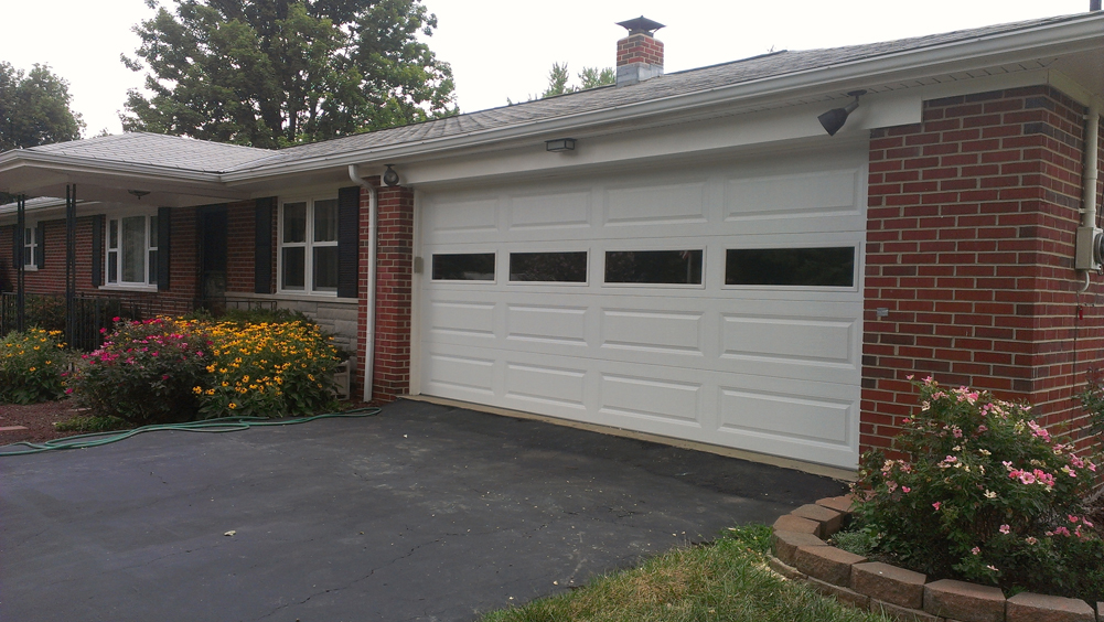 Long panel steel garage door in cincinnati don murphy for Murphy garage doors