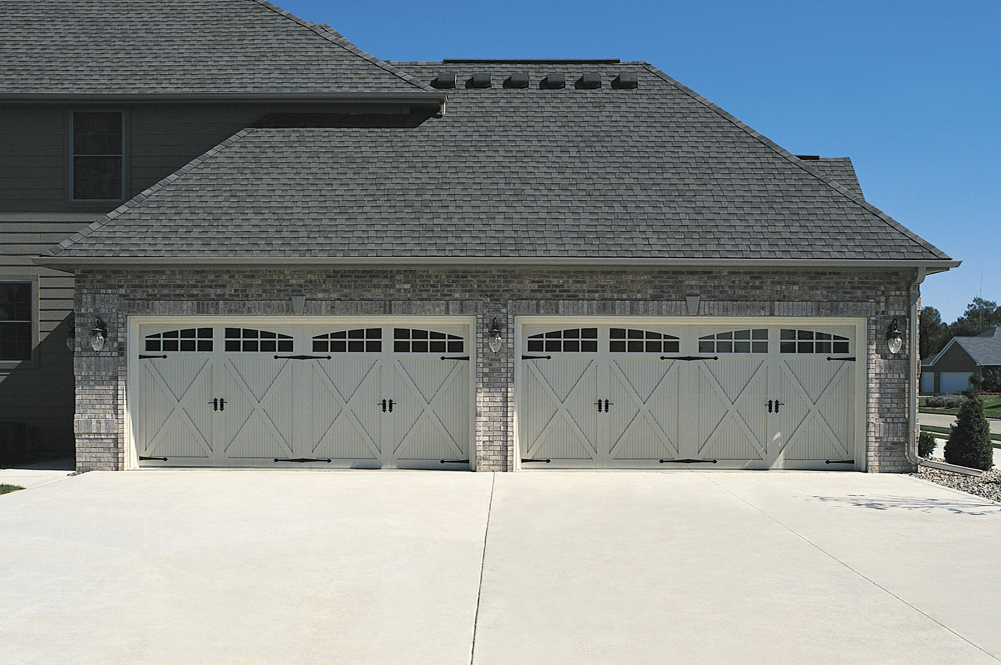 Overlay fiberglass carriage house door in cincinnati don for Murphy garage doors