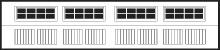 Stamped Steel Short Panel Carriage House Door In