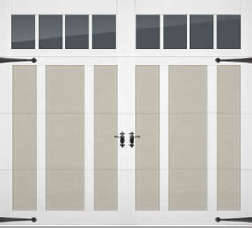 Overlay steel carriage house door in cincinnati don for Murphy garage doors