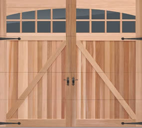 Overlay cedar carriage house door in cincinnati don for Murphy garage doors